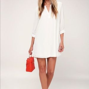 Lulu's - White Shift Dress
